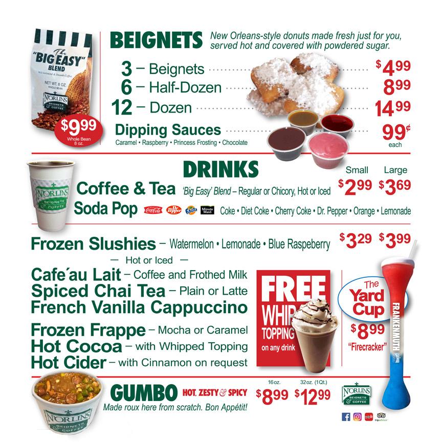 N'Orlins Cafe Online Food Menu